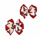 Houston Texans Toddler Hair Bow Set (Red or Navy) $6.5 USD on eBay
