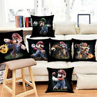 Super Mario Sports Pillowcase Home Decor Pillows Car Sofa Cushion Pillow Cover image