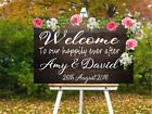 Personalised Wedding Party Welcome Sign Wall Art Vinyl Decal Sticker V413