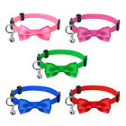 Cute Bowtie Puppy Dog Cat Breakaway Collar Safety Quick Release Buckle with Bell