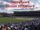 (4) Chicago Cubs Tickets vs Padres 7/20/19  Sec 203 Lowers NO POLES on Ebay