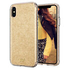 iPhone X/XS, XS Max, XR | Ciel [Glitter] Shimmer Gold Glitter Slim Cover Case