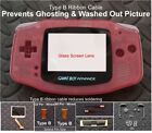 GBA Backlight-Backlit Adapt-AGS101-Mod Kit w/glass lens+Type B cable- Pick Color