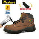 Внешний вид - Safetoe Safety Boots Mens Work Shoes Steel Toe Brown Water Resistant M-8356CN