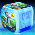 LED 7 color Flash/Change Digital Alarm Clock Game The Super Mario desk clock
