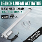 """6""""-30"""" Inch Stroke Linear Actuator 900N/225lbs Pound Max Lift 12V Volt DC Motor"""