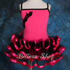 Ribbon Ruffle Ballet Tutu Dancewear Fancy Fairy Party Dress Girl Size 2T-8 BA026