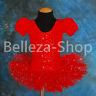 Sequins Puff Sleeves Ballet Tutus Dance Leotard Fairy Costume Size 2T-5 BA020