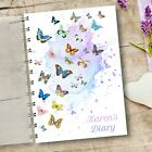 Personalised Diary Butterflies, Any Month Start, 12 months Journal Planner, Gift