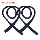 2 Pcs of Black Boat UV Dock Bungee Tie Nylon-Covered Dock Line 36 in & 59 in EFP