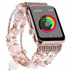 For Apple Watch Series 5 4 44MM Bling Agate Beads Strap Bracelet Band iWatch 2 3