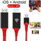 USB Female + Wireless WiFi HDMI Cable Display Dongle Adapter iOS Android to TV