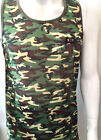 Mens tank tops, time is money green camouflage star vest, hip hop gym streetwear