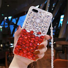 Handmade Bling Diamond Crystal Rhinestone Clear PC+TPU Case Cover For Cell Phone
