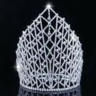 21cm High Large Queen Crystal Wedding Bridal Party Pageant Prom Tiara Crown