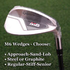 TaylorMade Golf M6: Approach/Sand/Lob Wedge-Steel/Graphite-Regular/Stiff/Senior