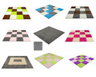 Внешний вид - 9 pcs Interlocking Floor Mats Carpet Tiles Plush Foam Square Mats for Bed Room
