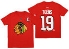 Reebok NHL Hockey Boy's Chicago Blackhawks Jonathan Toews #19 T-shirt, Red $9.99 USD on eBay