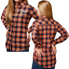 Forever Collectibles NFL Women's Chicago Bears Check Long Sleeve Flannel Shirt $34.95 USD on eBay