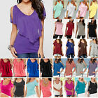Plus Size Women Summer Cold Shoulder Tee Tops Short Sleeve Blouse Casual T-Shirt