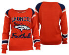 Forever Collectibles NFL Women's Denver Broncos Glitter Scoop Neck Sweater $34.99 USD on eBay