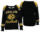 Forever Collectibles NFL Women's Pittsburgh Steelers Glitter Scoop Neck Sweater $34.99 USD on eBay