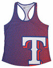 Forever Collectibles MLB Women's Texas Rangers Diamond Racerback Tank on Ebay