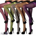 Ladies Stripped Stripy Tights Pantyhose Fancy Dress Costume Accessory Halloween