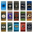 "Stripes Football Beach Towel Officially Licensed Pick Your Team 30"" x 60"" $16.95 USD on eBay"