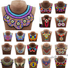 Women's Boho Choker Big Collar Statement Pendant Necklace Tribal Ethnic Jewelry
