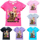 Summer Jojo Siwa Printed T-Shirt Childrens Kids Girls T Shirt for Age 3-10Y