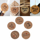 100pcs Brown Handmade Round Hang Tags Labels Wedding Favor Gift Cards Price Tags