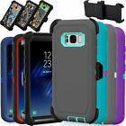 For Samsung Galaxy S8 Case Cover Rugged With (belt Clip Fits Otterbox Defender)