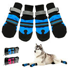 Dog Shoes Waterproof Large Protective Snow Boots Liner Blue Reflective Anti-slip