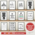 Bathroom Prints Wall Art Poster Prints.Quality Sayings Quotes Funny Home Picture