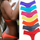 Sexy Women Brazilian Bikini Swimwear Thong Ruched Scrunch Bottom Bathing Beach $6.96 USD on eBay