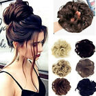 Women Natural Curly Messy Bun Hair Extensions Hair  Piece Scrunchie Extra Thick