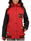 DC DCLA Women's Snowboard Snow Ski Varsity Jacket American Beauty Red Small