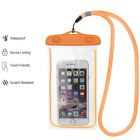 For iPhone and Samsung Mobile Phone Transparent Waterproof Bag