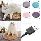 Small Pet USB Warm Electric Heated Heating Pad Mat Blanket For Dog Cats 40cm US