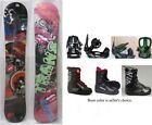 "NEW TRANS ""PREMIUM"" SNOWBOARD/BINDINGS/BOOTS PACKAGE- WOMEN'S - 138, 143cm"