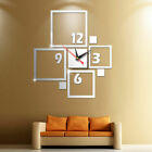 Modern Large Wall Clock 3D Mirror Sticker Unique Big Number Watch DIY Decor NEW