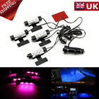 4LED Car Interior Charge Accessories Floor Decorative Atmosphere Lamp Light Blue