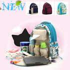 Flower Mummy Backpack Baby Diaper Nappy Bag Mother Travel Large Capacity Pack