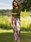 MOSSY OAK PINK CAMOUFLAGE LADIES LOUNGE CASUAL PANTS - CAMO