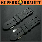 SUB Waterproof Rubber Watch Band for Panerai PAM Logo Buckle 22mm 24mm 26mm