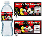 20 MICKEY MOUSE BIRTHDAY PARTY FAVORS WATER BOTTLE LABELS ~ PERSONALIZED