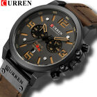 CURREN Mens Watches Top Luxury Brand Waterproof Sport Wrist Watch Chronograph  image