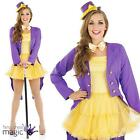 Adults Ladies Willy Wonka Factory Owner Fancy Dress Costume Outfit Hat Book Week