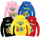 Pokemon Kids Boys Girls Long Sleeve Hoodie Pullover Sweatshirt Top Shirt Clothes